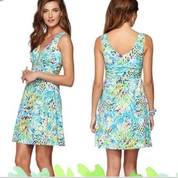 64c80d243b7eb1 Lilly Pultizer Sea Soiree Shianne Dress Large Blue.  M_5abe7c02f9e50124bf13367d